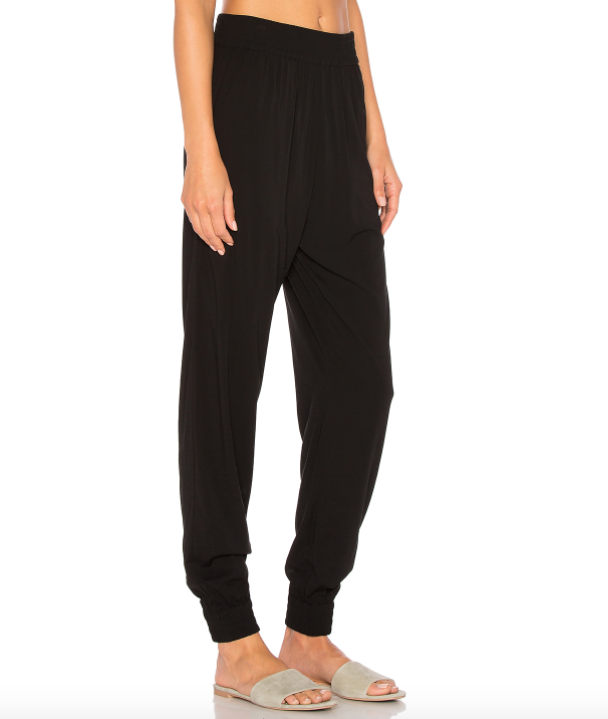 INDAH Oskar Solid Rayon Jogger Pant with Pockets | Black
