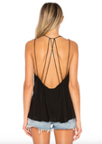 INDAH Tyga Cami strappy back top | Black & White