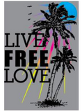 MALIBU SWEATS Live Free Love Collection | Ocean Drive Burnout Zip Up Sweatshirts