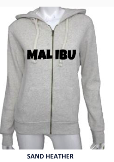 MALIBU SWEATS Live Free Love Collection w/ MALIBU | Ocean Drive Zip Up Sweatshirts