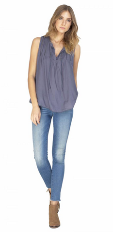Gentle Fawn Cordero Top | Zinc Blue