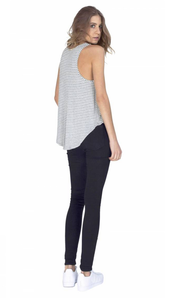 Gentle Fawn Interval Tank | Echo Stripe White