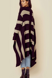 Indah Praline Rib Knit Cardigan Sweater | Solid Black