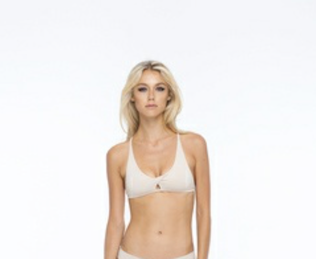 INDAH BODY Vanilla Solid Twist Bralette formerly called Maya Bra