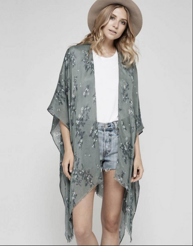 Gentle Fawn Gallery Kimono | Chinois Green Thicket