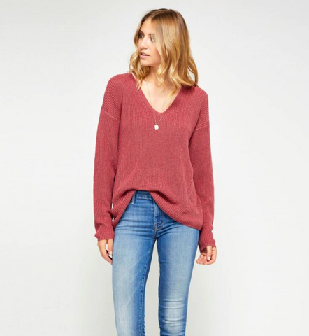Gentle Fawn Tucker Sweater | H. Berry Pink