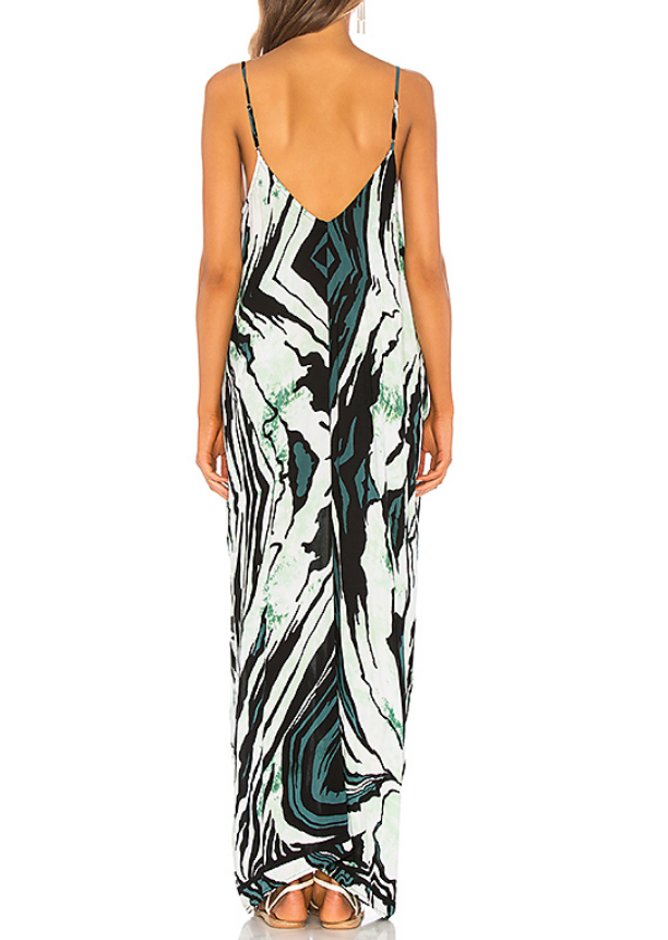 Indah Nala Maxi Dress | Teal/Tiger Print