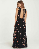 Billabong Women's Wind Flutter Floral Maxi Dress | Black