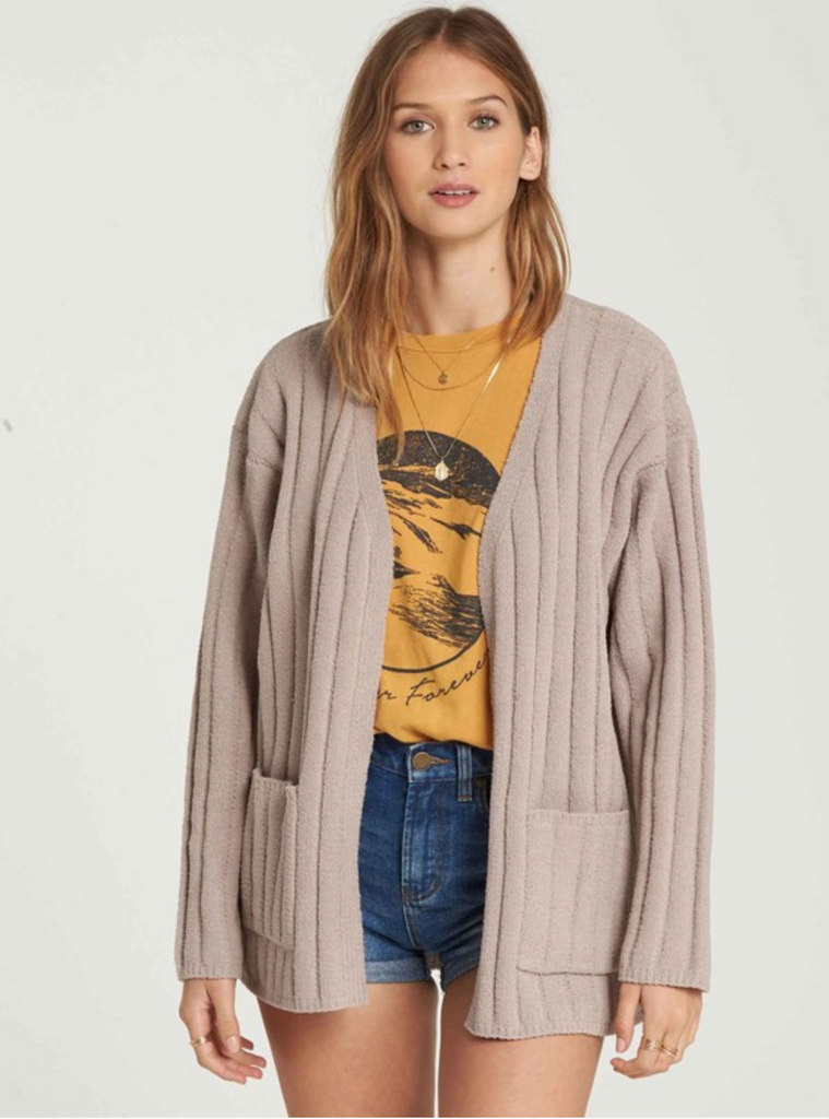 Billabong Women's Just Relax Chenille Cardigan | Coconut Shell