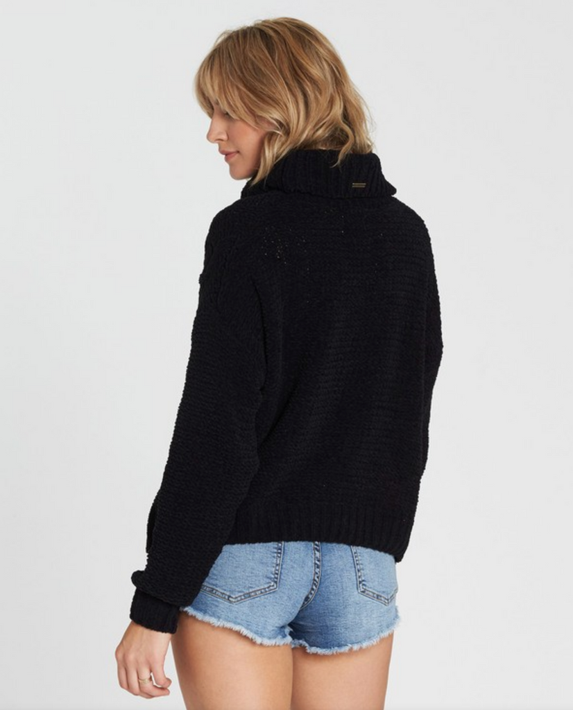 Billabong Women's On A Roll Chenille Cable Knit Sweater