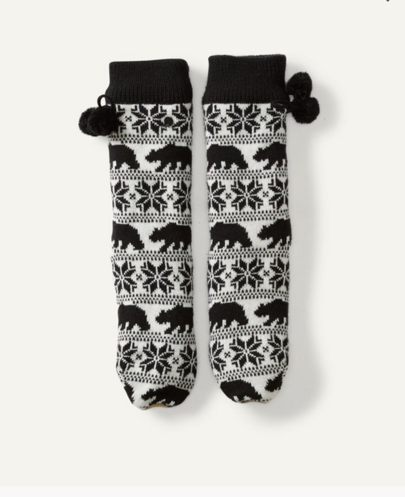 Billabong Women's Winter Bear Socks | Off Black