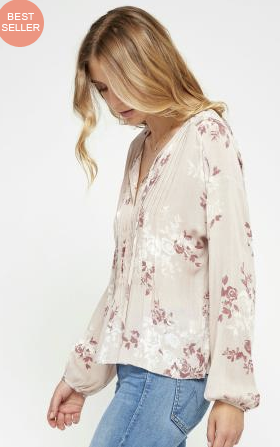 Gentle Fawn Cecilia Top | Pink Tint Cameo