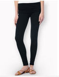 Splendid Modal Fold Waist Leggings | Black