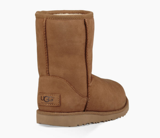 UGG Kids' K Classic Short II Waterproof Pull-on Boot | Chestnut
