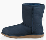 UGG Kid's K Classic Short II WP Waterproof Pull on Boots | Navy