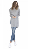 Gentle Fawn Instinct Long Sleeve High Side Slit Top | H Cement