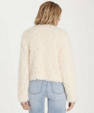 Billabong Women's Fur Keeps Faux Fur Cropped Jacket | White Cap