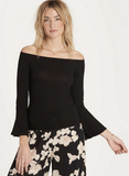 Billabong Women's Out There off the shoulder Top | Off Black