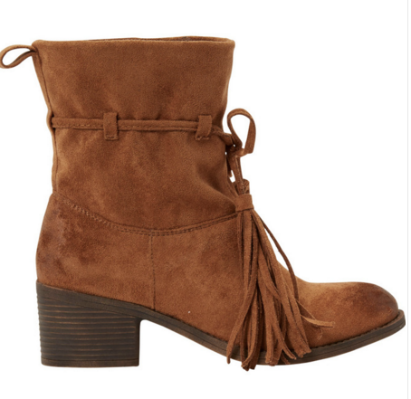 Billabong Monroe Vegan Suede Tassel Boot | Desert Brown