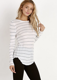 Indah Women's French Toast Long Sleeve Top | Kiss