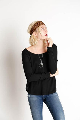 Billabong Women's Few Things Thermal Top | Black, Cool Wip
