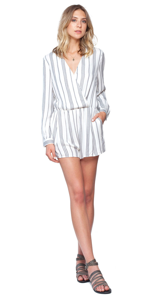 Gentle Fawn Bordeaux Romper | Ethnic Stripe