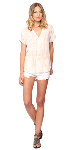 Gentle Fawn Bronze Top | Papaya Tie & Dye Print