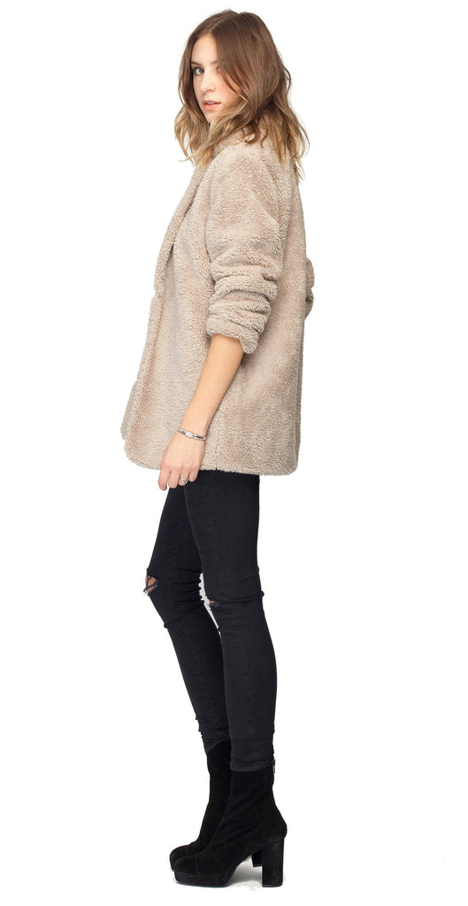 Gentle Fawn Penelope Faux Fur Coat | Sand