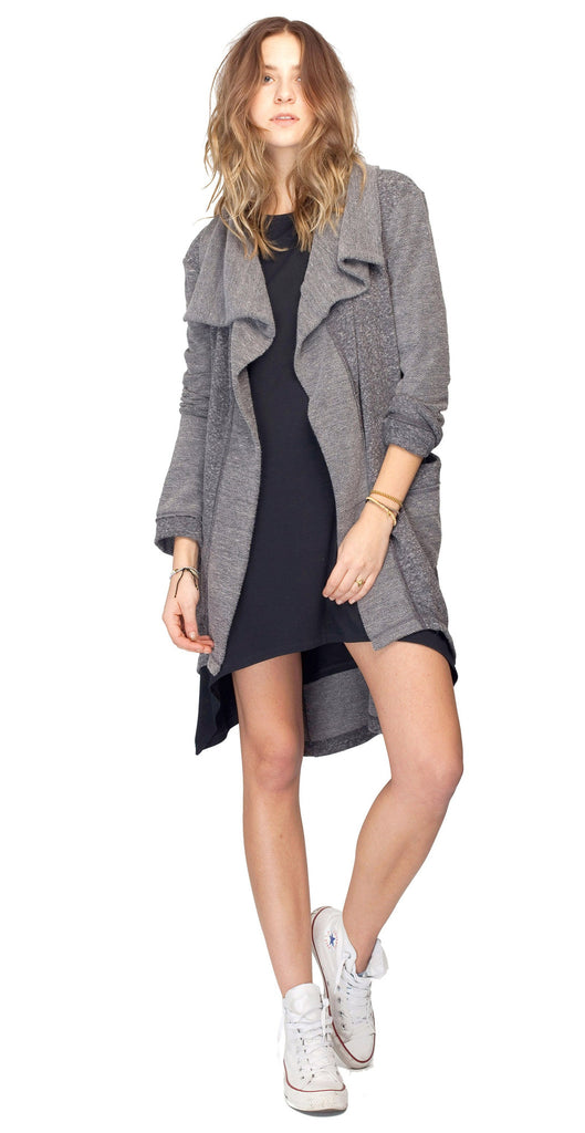Gentle Fawn Mantra Cardigan | Heather Black