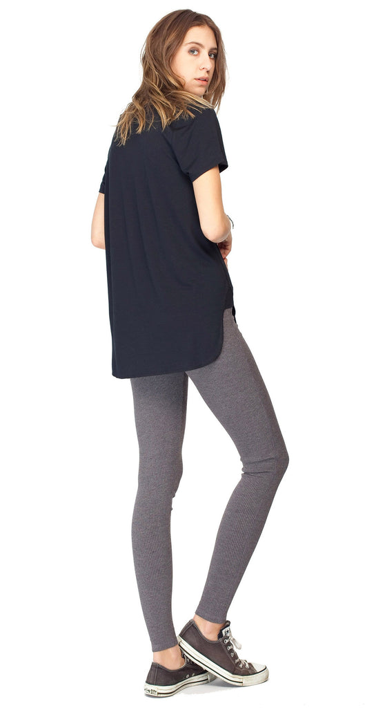 Gentle Fawn Pisces Ribbed Leggings | Black