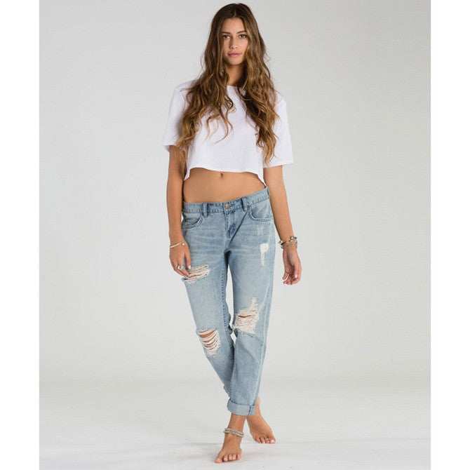 Billabong Women's New Boy Denim Jeans | Light Well Worn