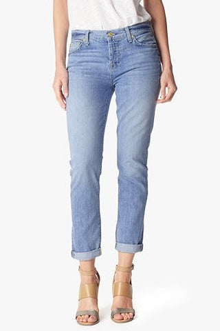 7 For All Mankind Josefina Feminine Boyfriend | Aura Blue Heritage | SALE