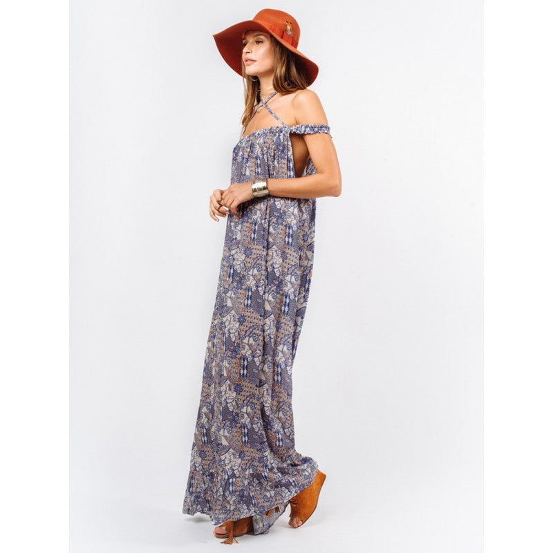 Indah Etta Maxi Dress | Blue Batik