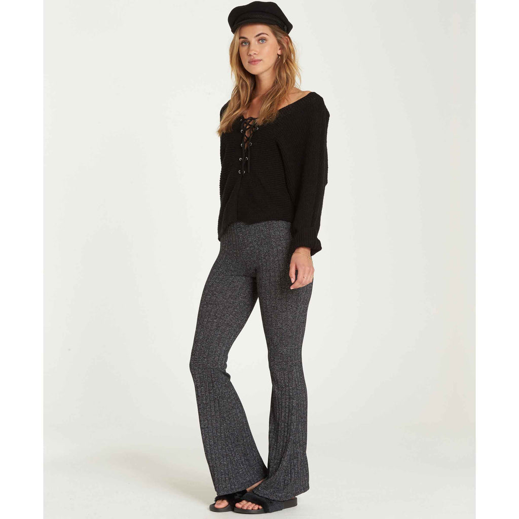 Billabong Women's Only Dreamin Knit Flare Pant Pant | Charcoal