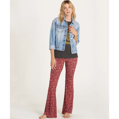 Billabong Women's Some Time Bell Bottom Pant | Scarlet