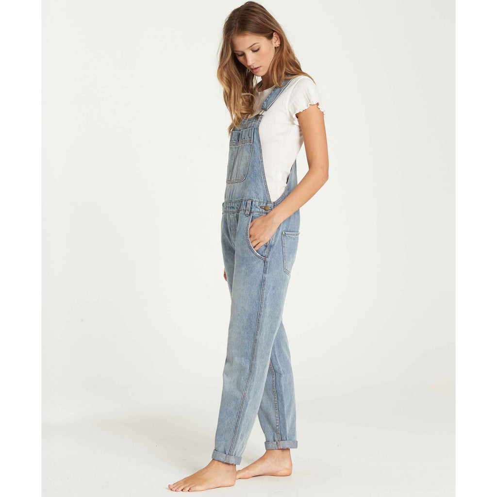 Billabong Women's All Over Denim Overalls | Blue Moon