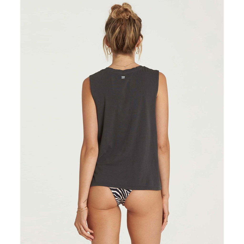 Billabong Women's Stoked Graphic Tank | Off Black