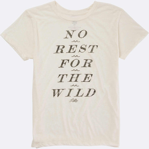 Billabong Women's No Rest For The Wild Tee | White Cap