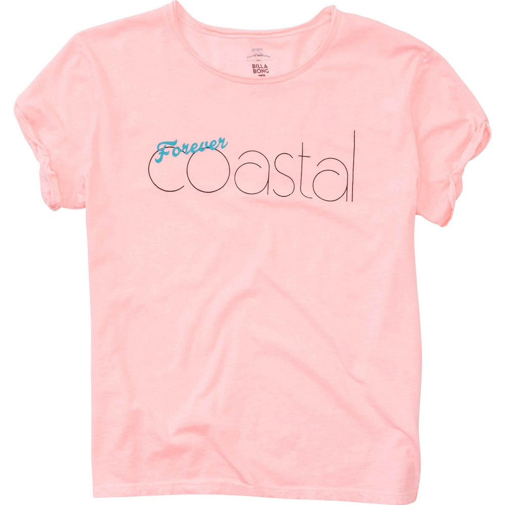 Billabong Women's Forever Coastal Tee | Coral Shine