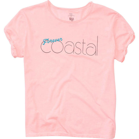 Billabong Forever Coastal Tee | Coral Shine