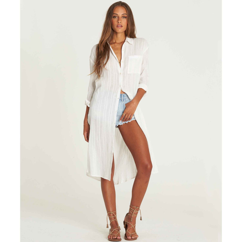 Billabong Women's Beach Me Button Down Top | Cool Wip