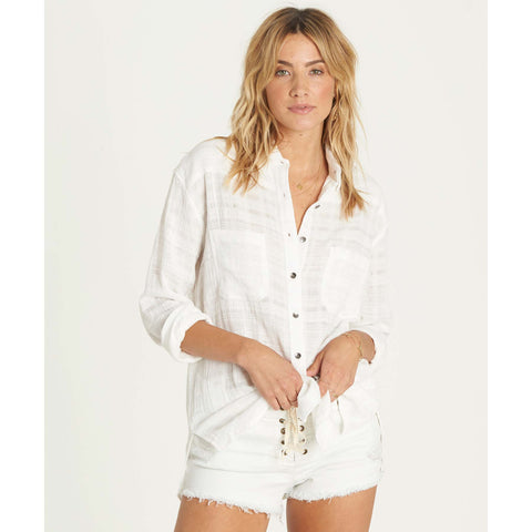 Billabong Women's Easy Moves Button down Long Sleeve Shirt | Cool Wip