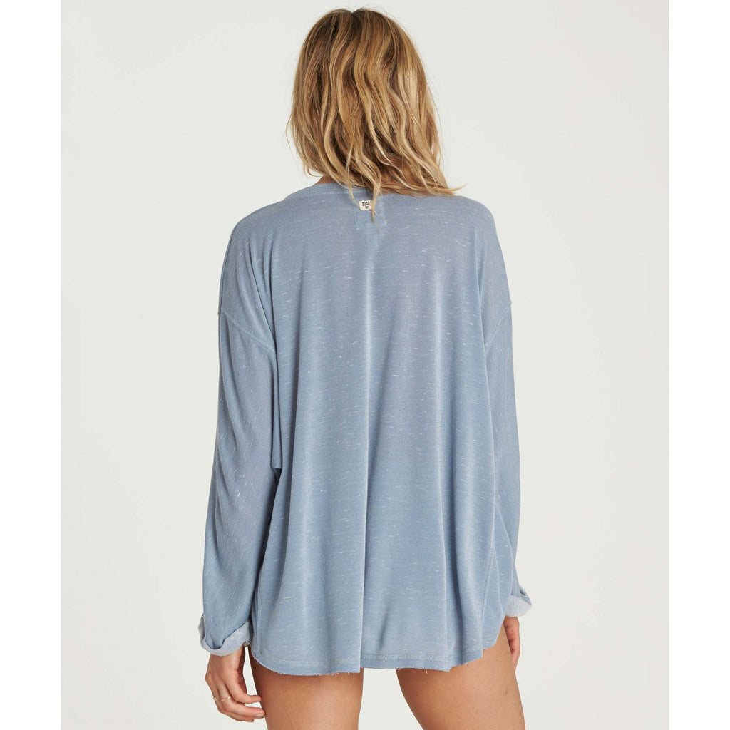 Billabong Women's My Mind Sweatshirt | Blue Stream