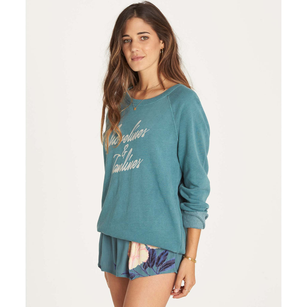 Billabong Women's Shore Lines Fleece Sweatshirt | Sugar Pine