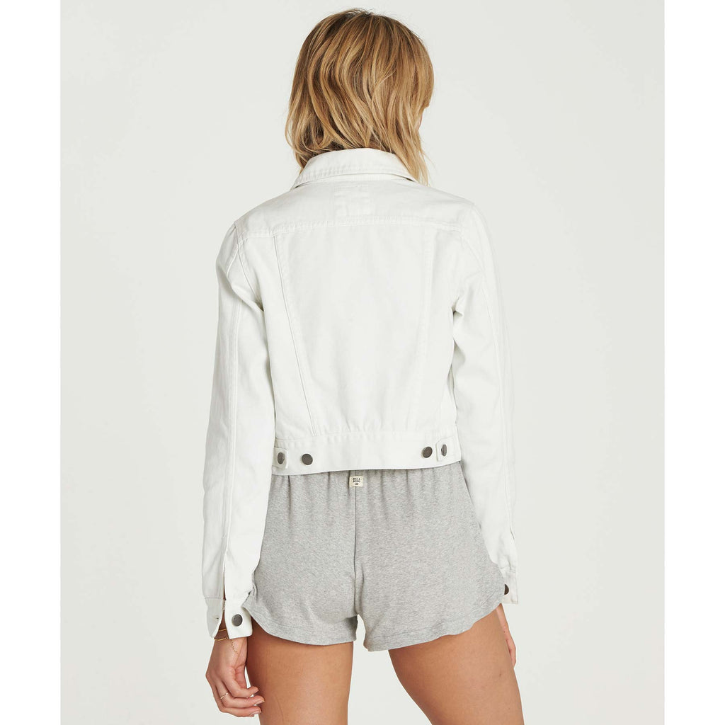 Billabong Women's Beaming Dream Crop Denim Jacket | Sea Bleach