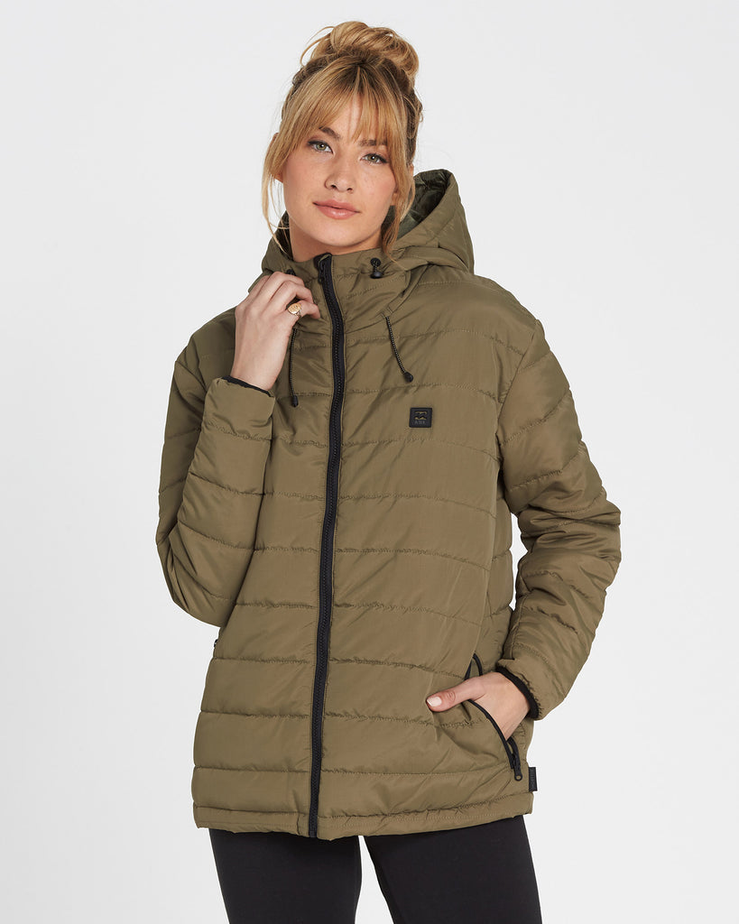 Billabong Women's A/DIV Transport Puffer Jacket | Black, Military