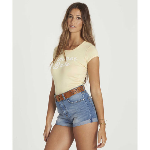Billabong Women's Just Begun Fitted Baby Tee | Pina Colada