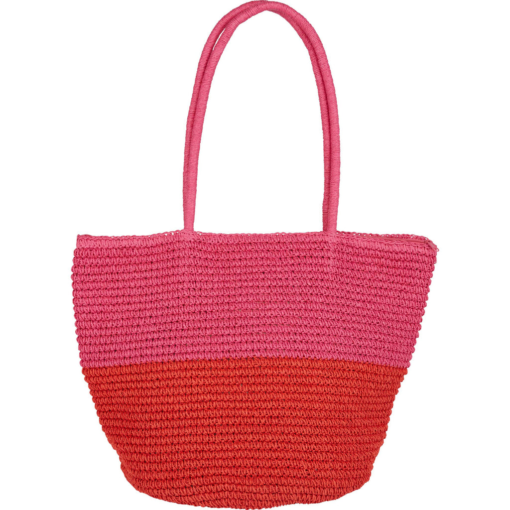 Billabong Women's Heart N' Soul Straw Tote Bag | Guava