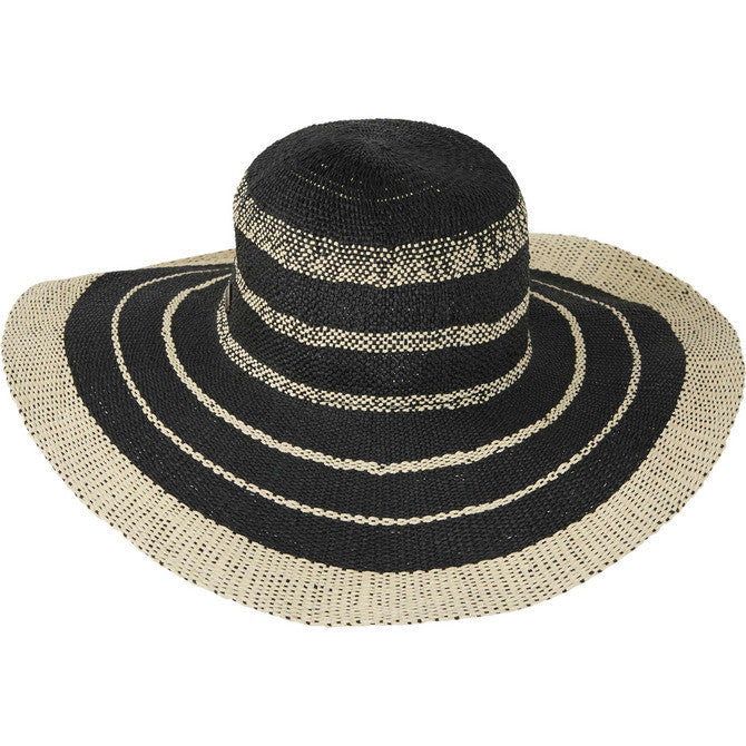 Billabong Women's Fireside Floppy Hat | Black | White Cap