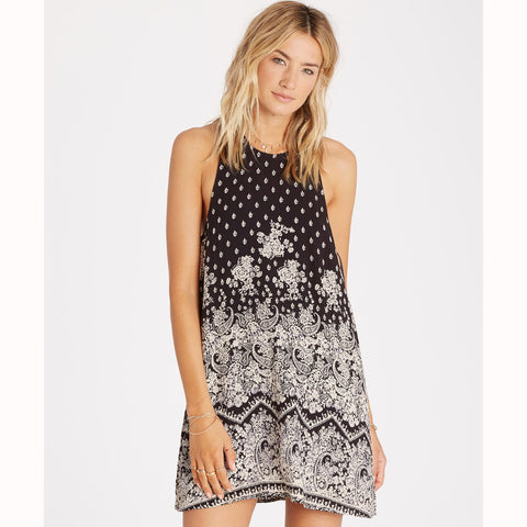 Billabong Women's Wild Sun Swing Dress | Off Black